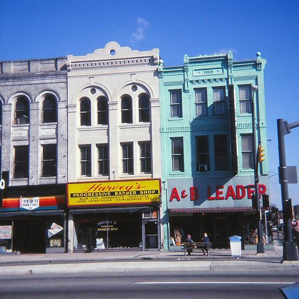 22-24 E. Broad St., Jackson Ward, November 1977. - EDITH K. SHELTON PHOTOGRAPH COLLECTION, THE VALENTINE