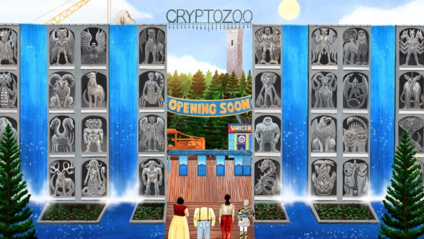 """A still from the feature length """"Cryptozoo"""" by RVA animator and cartoonist Dash Shaw."""