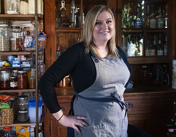 Longtime RVA bar professional Beth Dixon recently launched a side business, Salt and Acid, hosting Zoom happy hours and offering in-home bar consulting. - SCOTT ELMQUIST