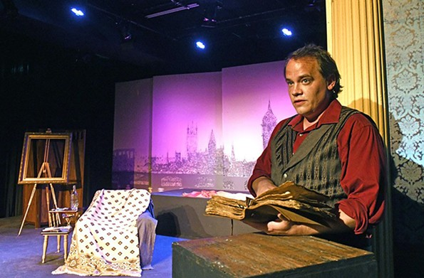 """Actor Billy Christopher Maupin in a one-man version of the Oscar Wilde classic """"A Portrait of Dorian Gray"""" at the Firehouse Theatre. - SCOTT ELMQUIST/FILE"""