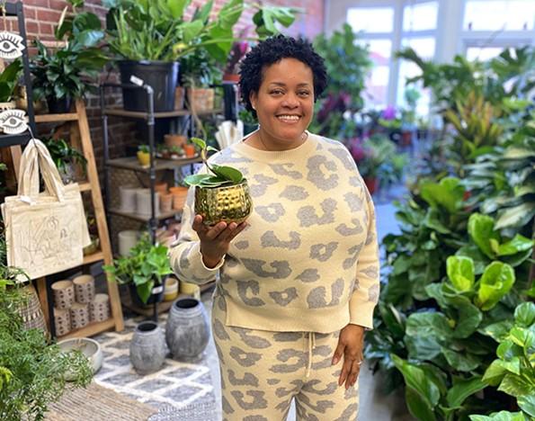 Necole Sykes, owner of Cole's Plants. - SCOTT ELMQUIST