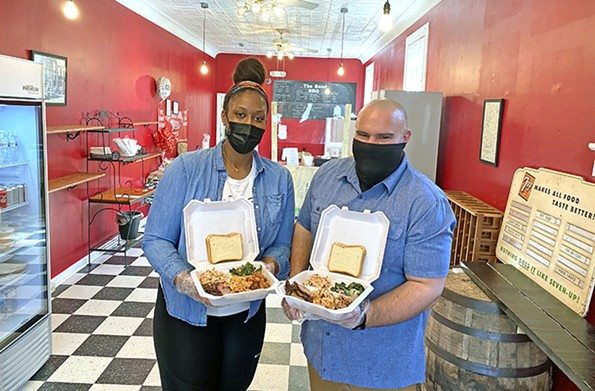 Husband and wife Erik and Kori LaFontaine recently opened the Bend BBQ on Valley Street toexcellent reviews. - SCOTT ELMQUIST