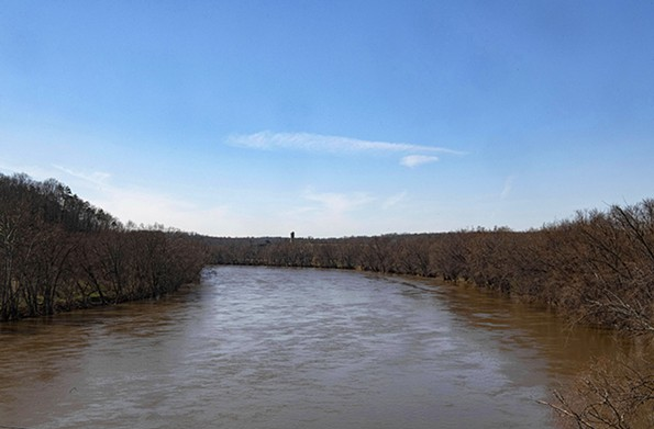 The James River skirts downtown and is accessible to pedestriansvia a levee and linear park. - SCOTT ELMQUIST