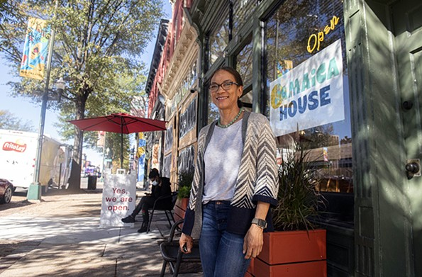 Jamaica House owner Carena Ives is gearing up to apply for the $28.6 billion Restaurant Revitalization; Ives has been serving authentic Jamaican cuisine to Richmonders since 1994. - SCOTT ELMQUIST/FILE