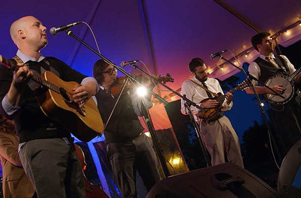 Whiskey Rebellion is one of many bands scheduled to perform during  Flowers After 5 at Lewis Ginter Botanical Garden.
