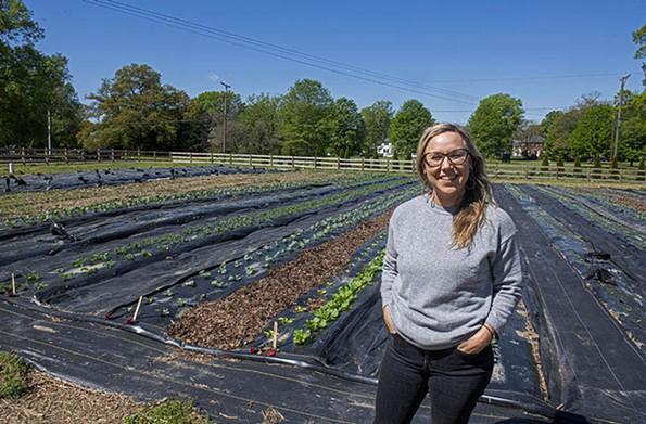 Shalom Farms' director of programs, Erin Lingo - SCOTT ELMQUIST