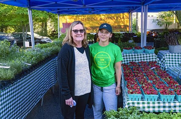Leek & Thistle chef Mela Jones and farmer Karla Medina. - SCOTT ELMQUIST