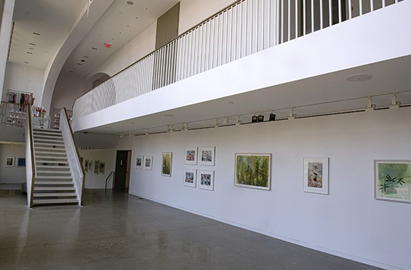 The two-level, under-stated Quirk Gallery flows seamlessly from the hotel lobby. - SCOTT ELMQUIST