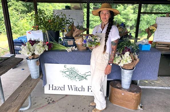 Ash Hobson Carr, owner of Hazel Witch Farm. - SCOTT ELMQUIST