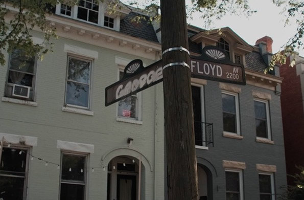 An intersection rechristened after George Floyd.