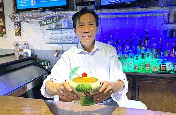Bartender Mike at Tiki-Tiki off Patterson Avenue. - SCOTT ELMQUIST