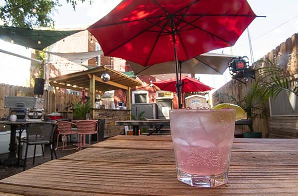 Cobra Cabana's cozy back patio offers the refreshing Patio Paloma on tap. - SCOTT ELMQUIST