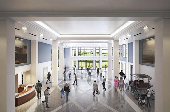 A rendering of the history museum's new great hall. - COURTESY THE VIRGINIA MUSEUM OF HISTORY & CULTURE