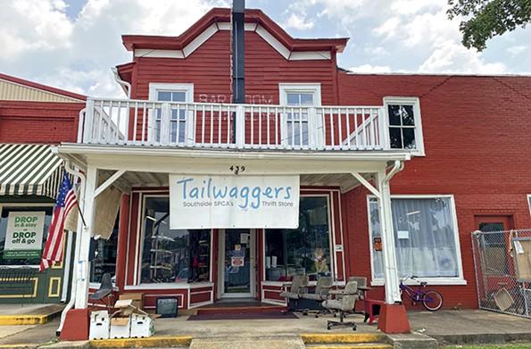 Tailwaggers thrift store occupies a building near an old train depot. - SCOTT ELMQUIST