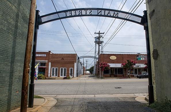 Arch on Keysville's Main Street. - SCOTT ELMQUIST