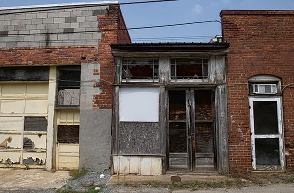 A storefront awaits restoration. - SCOTT ELMQUIST