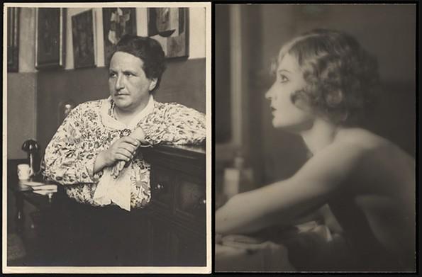 """Gertrude Stein (at Home),"" 1922, gelatin silver print. ""Barbette,"" 1926, gelatin silver print. - VIRGINIA MUSEUM OF FINE ARTS, ARTHUR AND MARGARET GLASGOW ENDOWMENT"