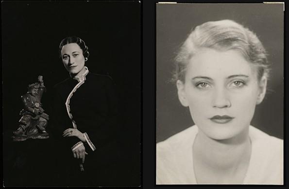 """Wallis Simpson with Chinese Sculpture,"" 1936, gelatin silver print. ""Lee Miller,"" 1929, gelatin silver print. - VIRGINIA MUSEUM OF FINE ARTS, ARTHUR AND MARGARET GLASGOW ENDOWMENT"