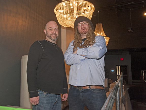 Matt McDonald and Rand Burgess at the Broadberry. Burgess will continue as owner of the Camel music venue. - SCOTT ELMQUIST / FILE