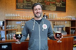 Ardent Craft Ales co-owner Kevin O'Leary celebrated the Scott's Addition brewery's first anniversary this summer. - SCOTT ELMQUIST