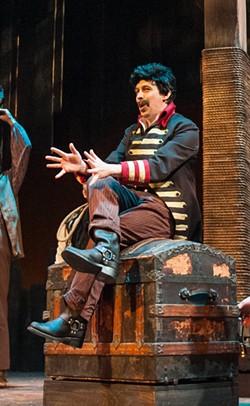 Actor Scott Wichmann as the evil pirate Black Stache.