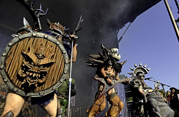 Gwar performs at its local Gwar-B-Q.