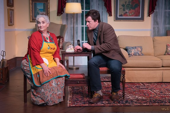 """Jacqueline Jones as Peggy and Landon Nagel as Floyd in """"The Fourth Wall"""" at the Firehouse Theater. - BILL SIGAFOOS"""