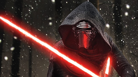 """""""Girls"""" star Adam Driver as the sinister, somewhat goofy Kylo-Ren in the latest mega-blockbuster sequel to a franchise that once, in a decade far, far away, had something slightly original to say."""