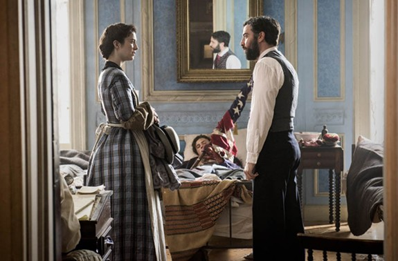 """Ready to get your Civil War drama on? Actors Mary Elizabeth Winstead as Mary Phinney and Josh Radnor as Jedediah Foster star in PBS's """"Mercy Street"""" which debuts on Jan. 17."""