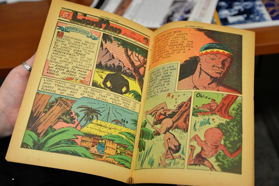 One of the characters from All-Negro Comics No. 1 was Lion Man, a college-educated, scientist superhero (photo courtesy of VCU News)