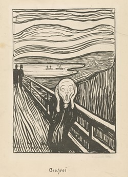 "Edvard Munch, ""The Scream,"" 1895."