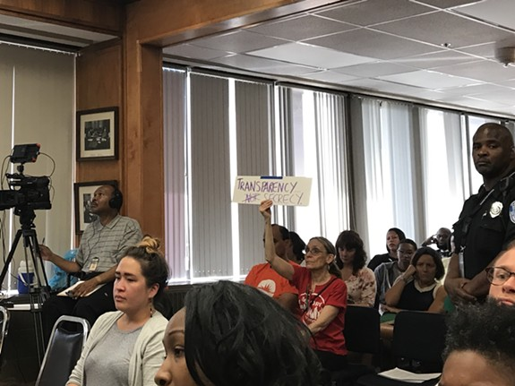 A packed school board meeting Monday night was the first since superintendent Dana Bedden's departure was announced. - JACKIE KRUSZEWSKI