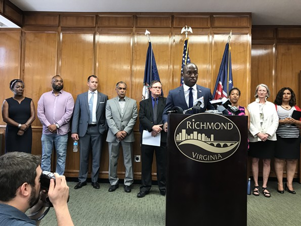 Mayor Levar Stoney announces a Commission  on Monument Avenue, led by American Civil War Museum CEO Christy Coleman and author Gregg Kimball. - JACKIE KRUSZEWSKI