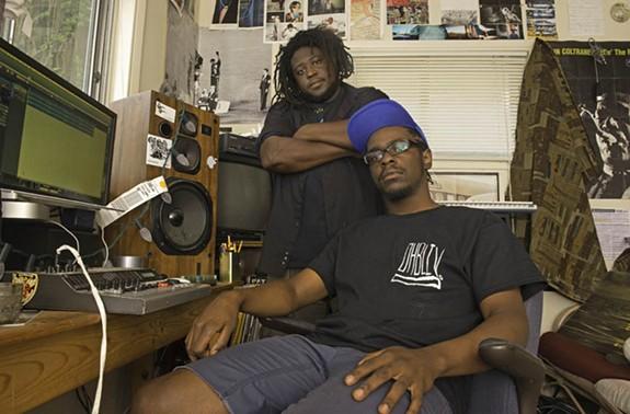 Devonne Harris and Reggie Pace of No BS Brass relaxing at Jellowstone. - SCOTT ELMQUIST