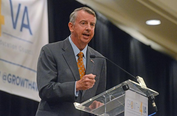 Gillespie speaks at a downtown event to business and education leaders, Growth4VA, on Oct. 11. - SCOTT ELMQUIST