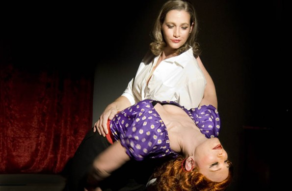 "Christy Mullins and Holly Lucas in the noir musical ""Pulp,"" a 2009 production. - RICHMOND TRIANGLE PLAYERS"