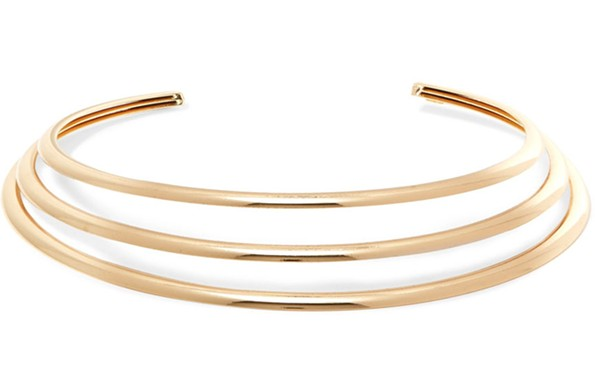 Kenneth Jay Lane gold-plated choker available at net-a-porter.com. - NET-A-PORTER.COM