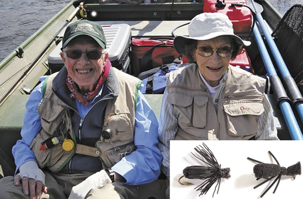 Former president Jimmy and first lady Rosalynn Carter each submitted a version of the Black Ant — hair, by Jimmy, and foam, from Rosalynn — and shared their love for the sport. - AMERICA'S FAVORITE FLIES