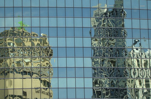 """""""Undulating Reflections"""" was taken in Chicago by Dennis Lieberman."""