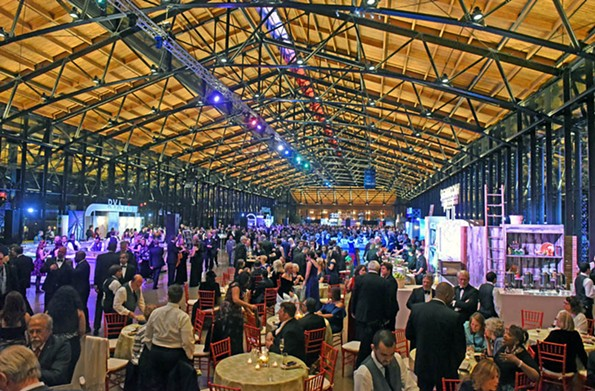 The soaring 500-foot Main Street Station train shed welcomed 3,000 guests Jan. 13 for the governor's inaugural gala. - SCOTT ELMQUIST