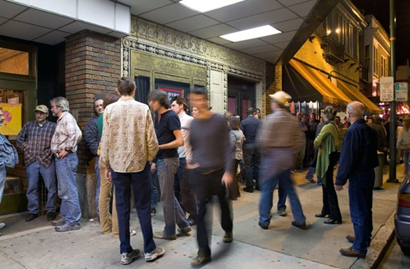 Crowds gather outside of the Byrd Theater for the 2005 festival. - PHOTO COURTESY THE JAMES RIVER FILM FESTIVAL