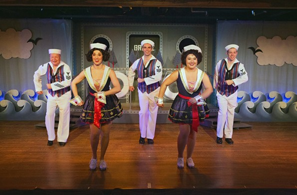 "The cast of Swift Creek Mill's musical ""Dames at Sea"" channels its own Busby Berkeley dreams. - ROBYN O'NEILL"