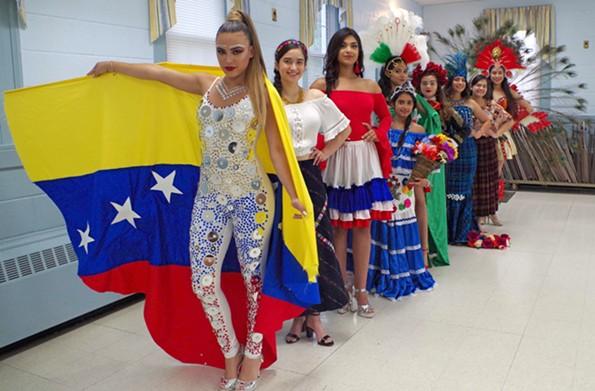 Meet your 2018 Miss Hispanidad contestants: Michelle Ziegler (Venezuela), Yasmin Paredes (Guatemala), Lizmary Almonte (Dominican Republic), Stefany Reyes (Honduras), Thalia Gomez (Mexico), Isabel Gallegos (Mexico), Julia Reyes (Guatemala), Paola Izaguirre (Guatemala), and Loren Gonzalez (Guatemala). - TORI MULLER