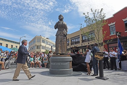 The Maggie Walker Statue Unveiling.