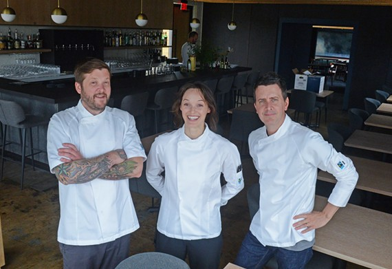 Andrew Manning, Megan Fitzroy Phelan and Patrick Phelan recently opened Longoven, which offers a $110 tasting menu and dishes a la carte.