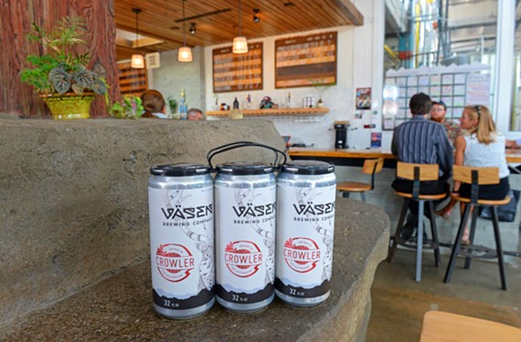 Vasen Brewing Co. is one of several local breweries to offer 32-ounce crowlers.