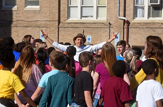 Jason Mraz shooting a video recently in Richmond.