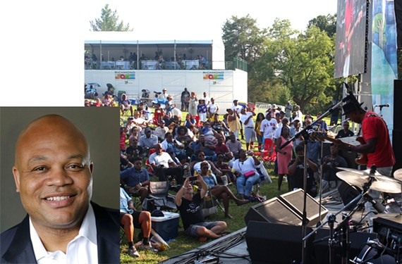 Crowd scene from Richmond Jazz Festival at Maymont. [Inset] Kenneth S. Johnson is founder, president and chief executive officer of Johnson Inc., a local marketing, consulting and public relations company, and launched the festival in 2010. You might remember him from the Fridays at Sunset concert series at Kanawha Plaza.