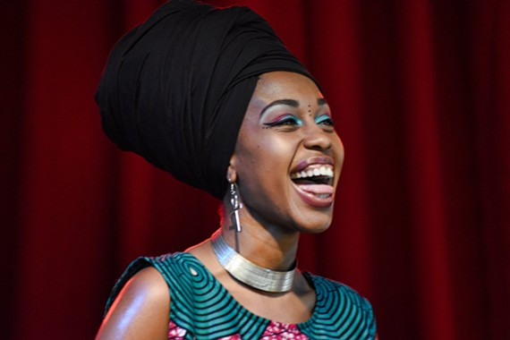 Singer Jazzmeia Horn was a revelation with a set full of vocal pyrotechnics, charisma, and a seriousness of purpose reminiscent of Rene Marie.