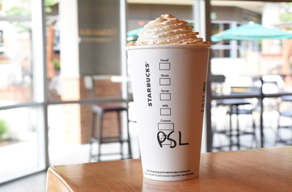 The pumpkin spice latte at Starbucks will be available Tuesday, August 28.